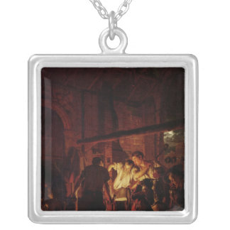 A Blacksmith's Shop, 1771 Silver Plated Necklace