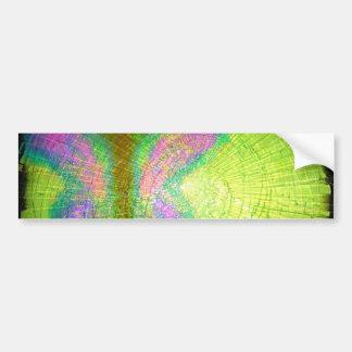 a blast of color glass bumper sticker