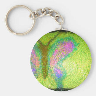 a blast of color glass keychain