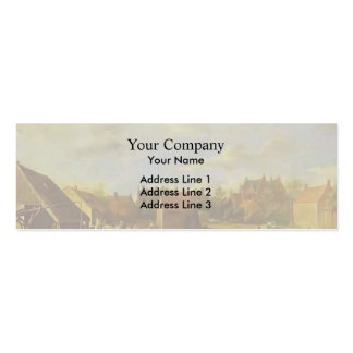 A Bleaching Ground by David Teniers the Younger Business Card Template