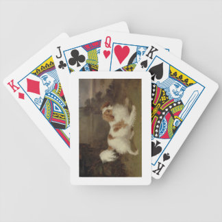 A Blenheim Spaniel c 1820-30 oil on canvas Poker Cards