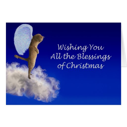 a blessed christmas greeting card
