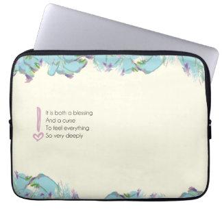A blessing pillow laptop sleeve