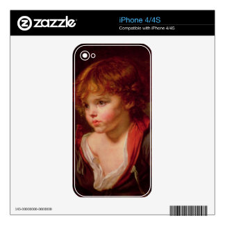 A Blond Haired Boy with an Open Shirt iPhone 4S Decal