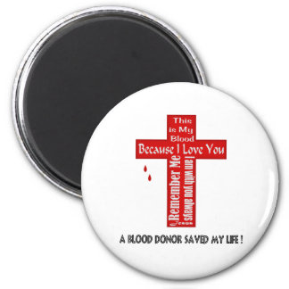A Blood Donor Fridge Magnets