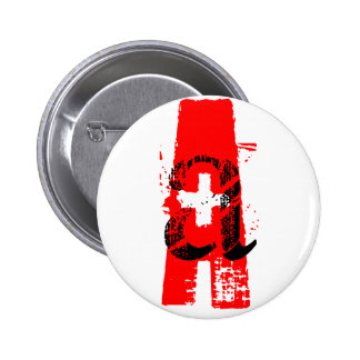 A+ = blood type pinback button