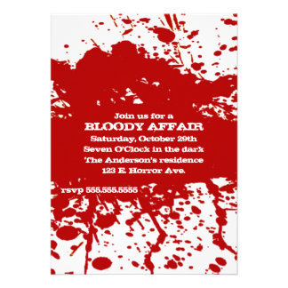 A Bloody Affair Halloween Invitation
