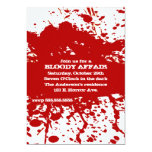 A Bloody Affair Halloween Invitation
