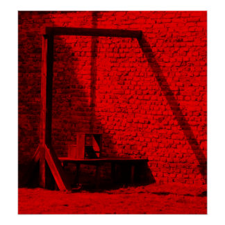 A Bloody Business - Gallows and Hanging Poster
