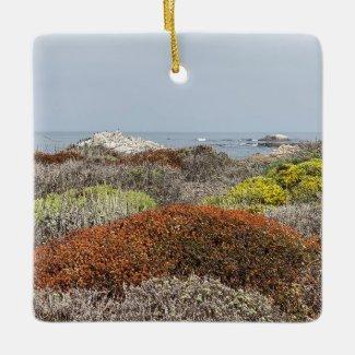 A Blooming California: Asilomar State Beach Ceramic Ornament