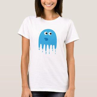 A Blue Abstract Water Monster T-Shirt