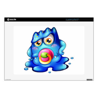 "A blue baby monster 15"" laptop skins"