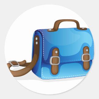a blue bag classic round sticker