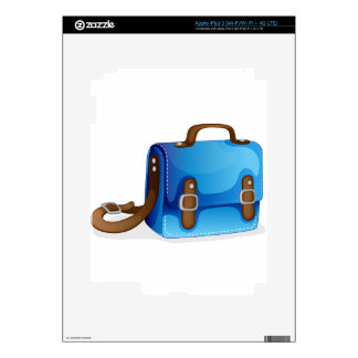 a blue bag iPad 3 decal