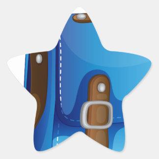 a blue bag star sticker