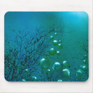 A Blue bubbles underwater unusual Mouse pad