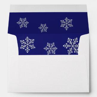A Blue Crystal Snowflake 5X7 Envelope
