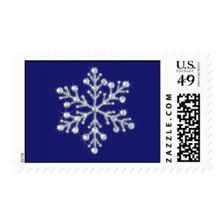 A Blue Crystal Snowflake Stamp