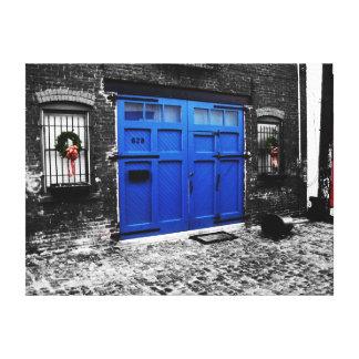 a blue door canvas