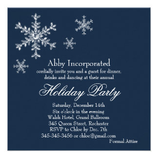 A Blue Glamorous Holiday Invitation corp