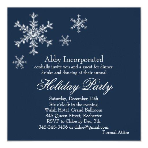 A Blue Glamorous Holiday Invitation (corp)