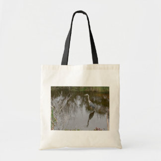 A Blue Heron Waiting For Fish In The Lake Canvas Bags