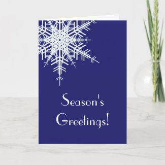 A Blue Holiday Card Offset Snowflake (corp.)