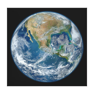 A Blue Marble Image of the Planet Earth Canvas Print