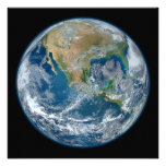 A Blue Marble Image of the Planet Earth Custom Announcement