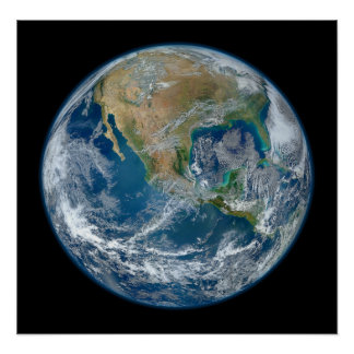 A Blue Marble Image of the Planet Earth Poster