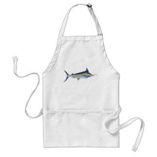 A Blue Marlin fish apron