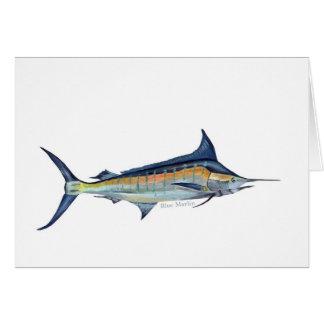 A Blue Marlin greetings card