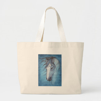 A blue roan horse in the wind canvas bag