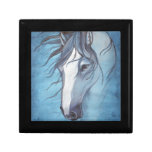 A blue roan horse in the wind keepsake boxes