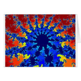 A Blue star fractal image Card