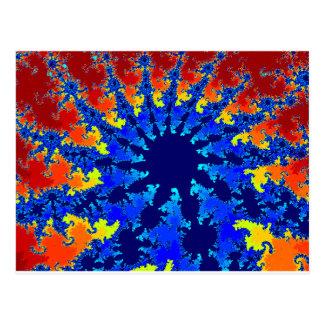 A Blue star fractal image Postcard