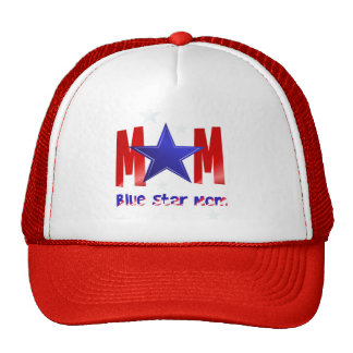 A Blue Star Mom-lettered Hats
