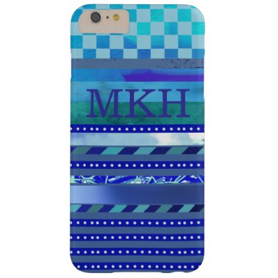 a blue suggestion barely there iPhone 6 plus case