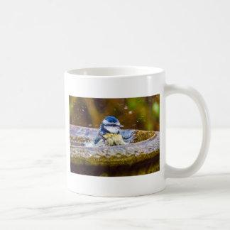 A Blue Tit in the Birdbath Coffee Mug