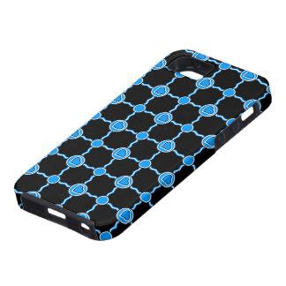 A blue white heart iPhone SE/5/5s case