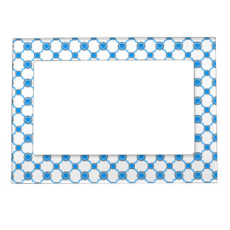 A blue white heart magnetic frame