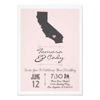 A Blush Colored California Wedding Invitation