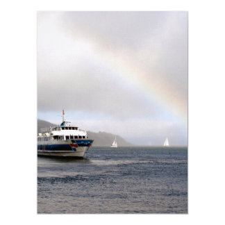 A Boat And A Rainbow Invitations