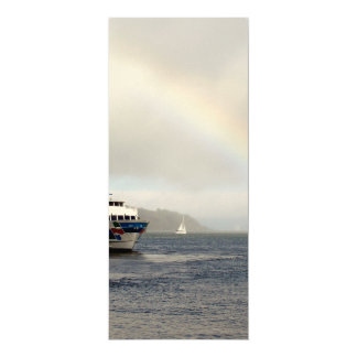 A Boat And A Rainbow 4x9.25 Paper Invitation Card