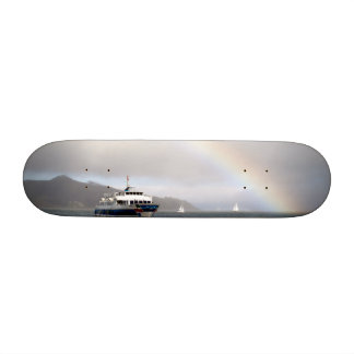A Boat And A Rainbow Skate Board Deck