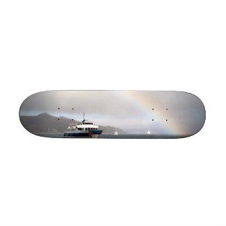 A Boat And A Rainbow Custom Skateboard
