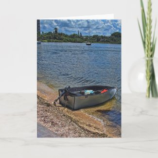 A Boat On The Bay Card