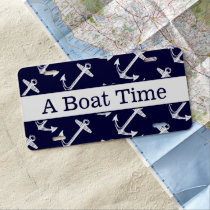 A Boat Time License Plate