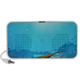 A boat trapped near the seaweeds portable speakers
