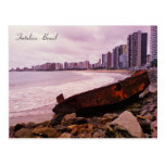 A boat wreck on the beach. Fortaleza, Brazil Post Card